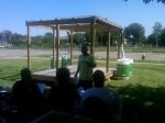 Healthy Thinking Workshop, Beverlyn Interacting with community