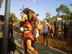 Aztec Dancers blessing garden: HACLA-Triscuit at Ramona Gardens